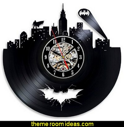 Batman Arkham City Logo Best Wall Clock - Decorate your home with Modern Large Superhero Art