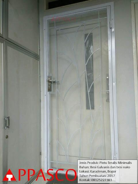 Pintu Besi Teralis Minimalis
