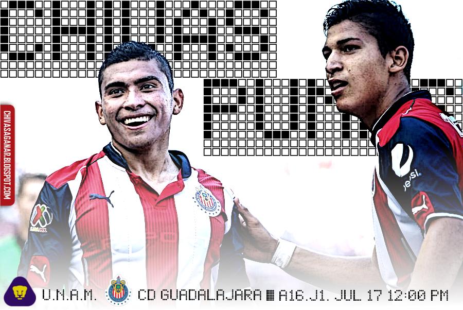 Liga MX : Club Universidad Nacional vs CD Guadalajara - Apertura 2016 - Jornada 1.