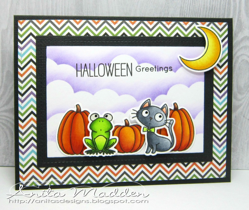 Just a pigment of my imagination halloween greetings halloween greetings good morning i have another halloween card featuring the adorable witch way is the candy stamps and dies kristyandbryce Images