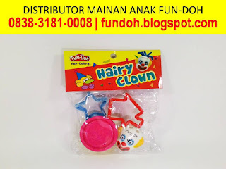 Fun-Doh Hairy Clown, fun doh indonesia, fun doh surabaya, distributor fun doh surabaya, grosir fun doh surabaya, jual fun doh lengkap, mainan anak edukatif, mainan lilin fun doh, mainan anak perempuan