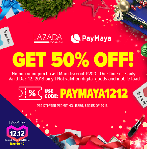 Back-to-Back Cashbacks and Discounts this 12.12 with PayMaya