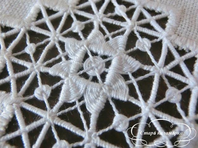 крестецкая строчка, строчевая вышивка, ажурная вышивка, старинная русская вышивка, вышивка по сетке