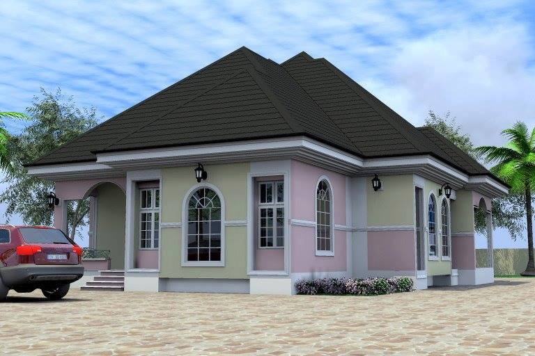 A 5bedrm bungalow design plan all room en suite for Cost of building a 4 bedroom bungalow in nigeria 2017