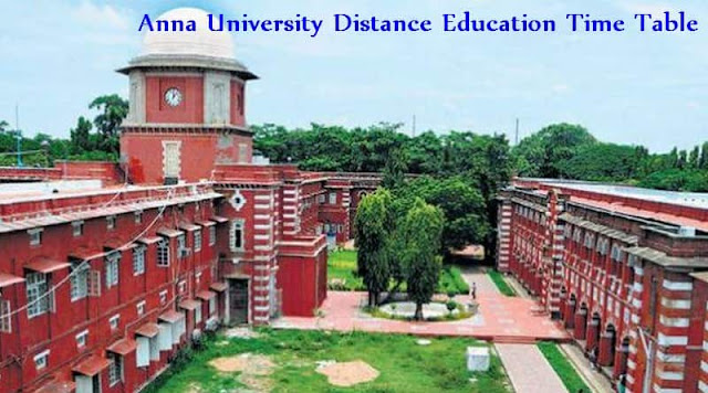 Anna University Distance Education Time Table