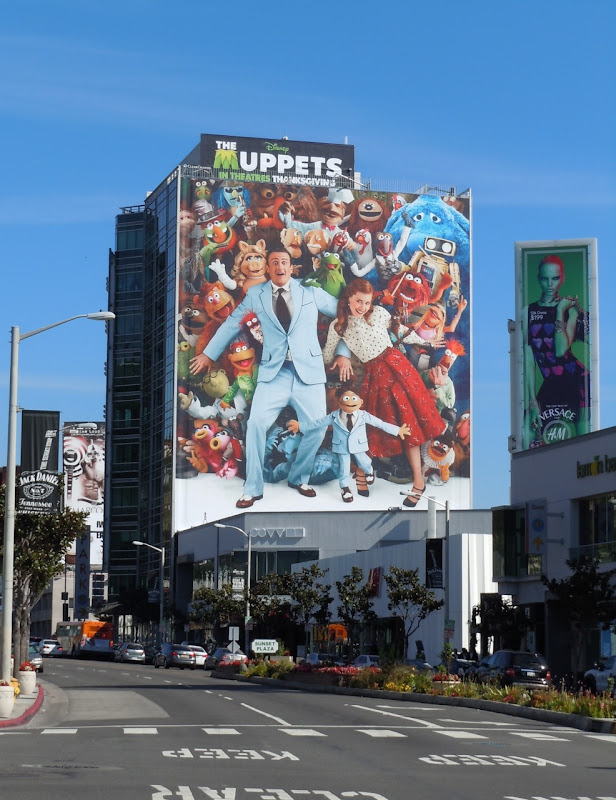 Giant Muppets billboard Sunset Plaza
