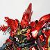Painted Build: RG 1/144 MSN-06S Sinanju [Metallic Gloss Finish]