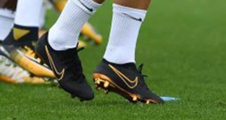 8e73c96a3 Eden Hazard Trains in  Black   Metallic Gold  Nike Flyknit Ultra Football  Boots