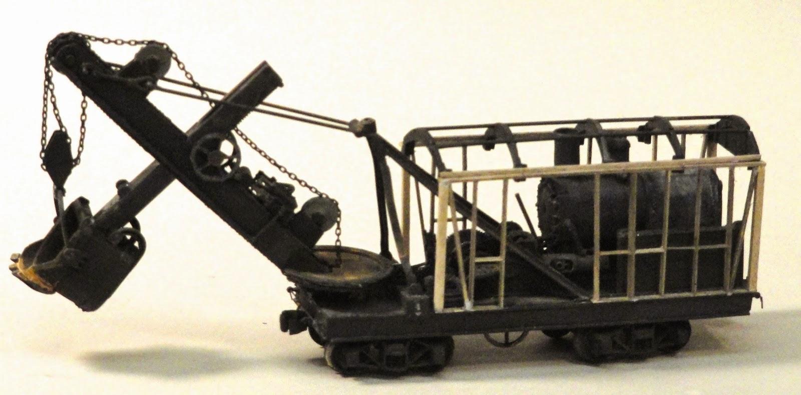 Model Railroad Minutiae Marion Steam Shovel More Progress