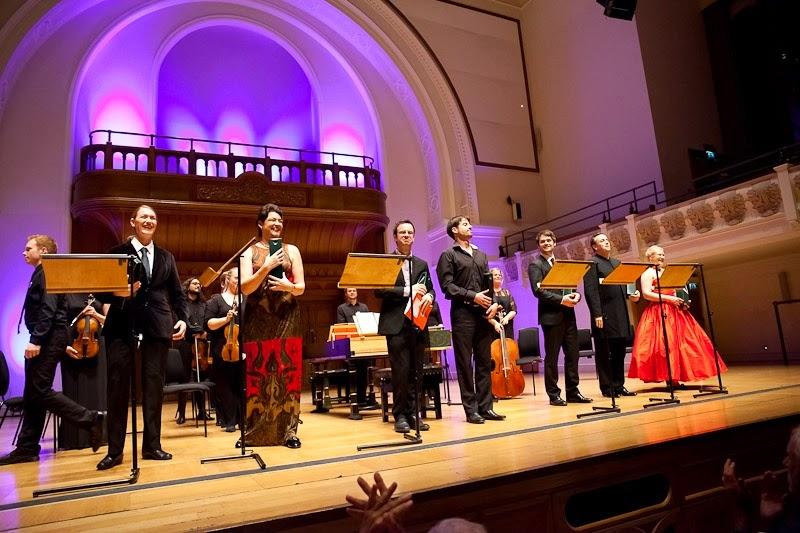 Cast of Opera Settecento's performance of Vivaldi's Griselda at Cadogan Hall