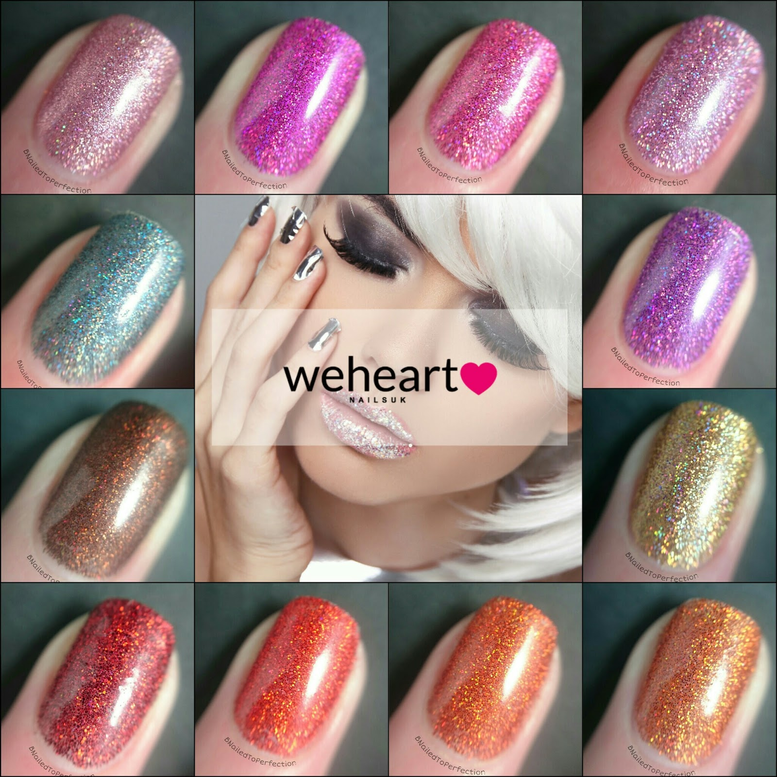 B Nailed To Perfection We Heart Nails Uk Glitter Swatches And