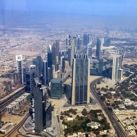 Vista della città dal 148 piano del Burj Khalifa