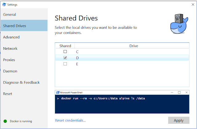 Share drive docker