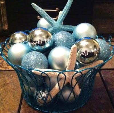 Christmas balls bowl