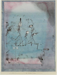 Paul Klee painting - Twittering Machine