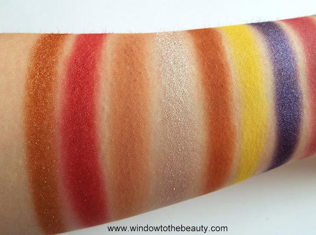 Afrique  eyeshadow palette swatches