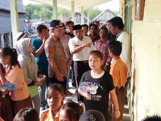 Pemkab OKI Bakal Bangun Jalan Cor Bertiang SDN 1 Sungai Pedade