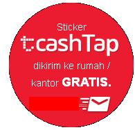stiker tap cash dikirim kerumah atau kantor