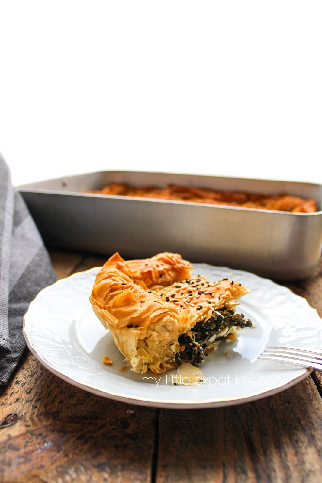 My Little Expat Kitchen: Greek phyllo pie with kale and feta