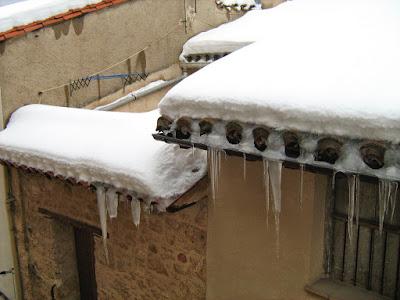 clima, Beceite, nieve, frío, nevada, está nevando, Beseit, neu, canalobres, forn, horno, tejados