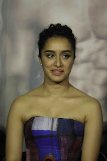 Actress Shraddha Kapoor Latest Stills in Shoulderless Dress at Baaghi Trailer Launch  0011