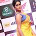 Poorna Hot in Sleeveless Yellow Saree Stills