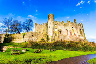 Castillo de Laugharne Castle Wales UK