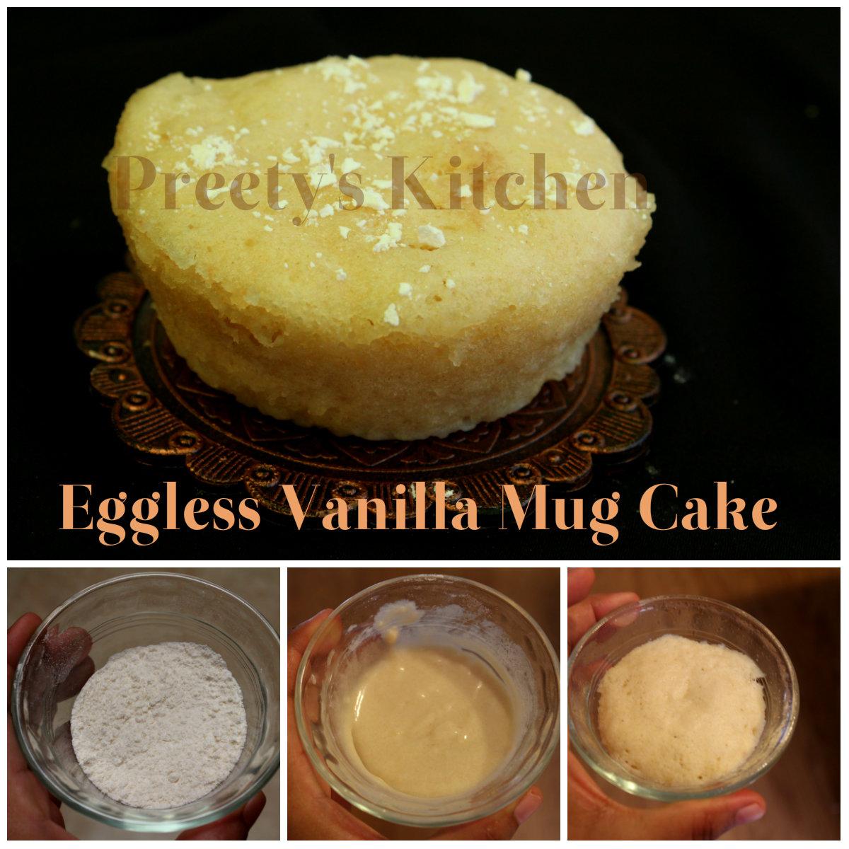 Preety's Kitchen: Eggless Vanilla Mug Cake / Single ...