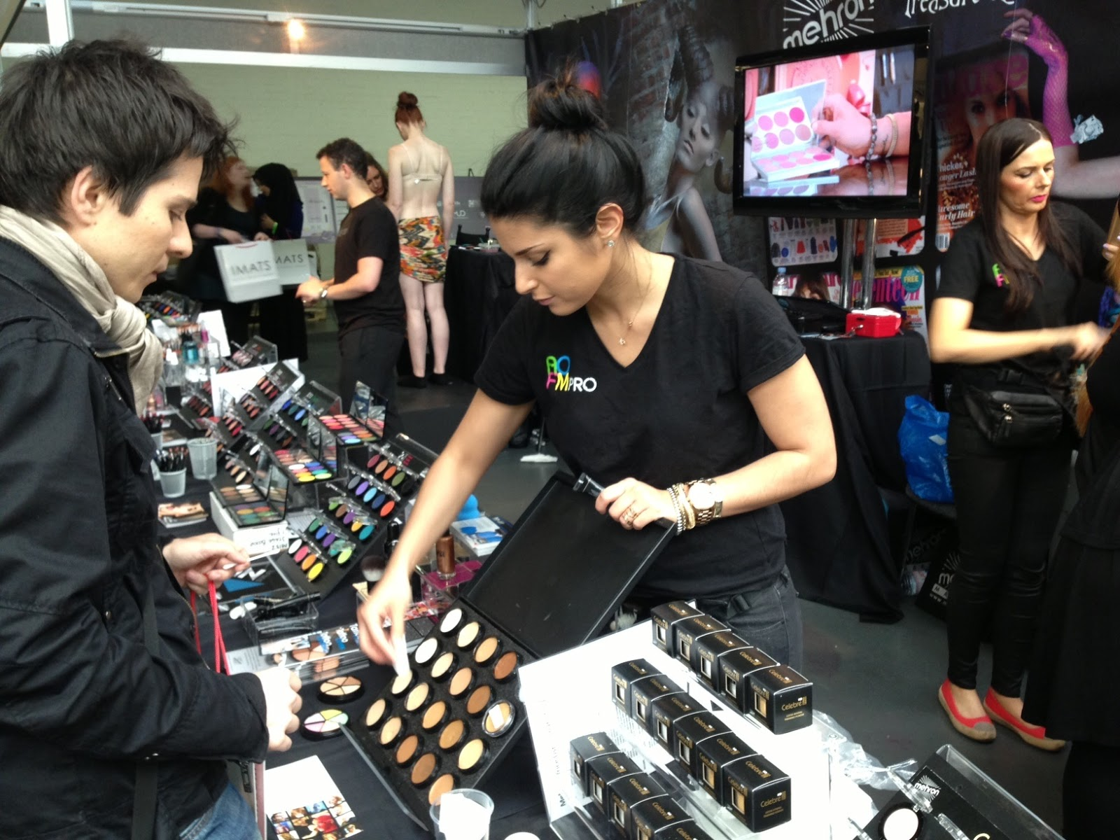 Academy Of Freelance Makeup Artists Manning The Mehron Booth