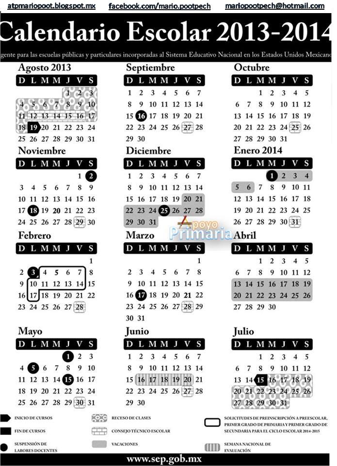 ATP PRIMARIA: CALENDARIO ESCOLAR 2013-2014