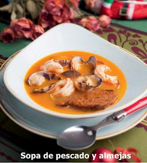 Sopa De Pescado Y Almejas