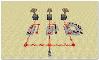 Minecraft Redstone Circuit コンパレーターを使ったクロック回路(リピーターで遅延)