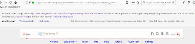 Mengenal pentingnya google cached dalam seoq