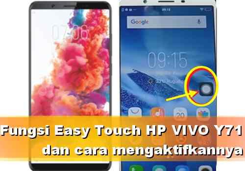 Fungsi Menu Easy Touch Vivo Y71 dan cara mengaktifkannya