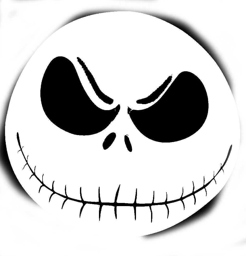 Free printable jack skellington pumpkin carving stencil ...