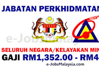 Jabatan Perkhidmatan Awam - Gaji RM1,352 - RM4,003