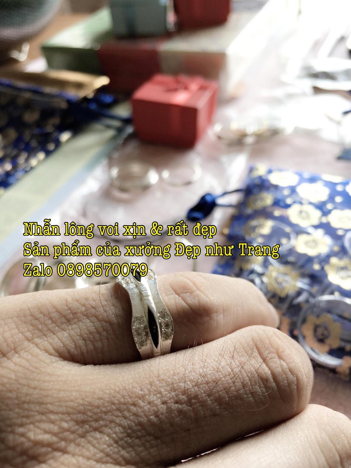 Hình ảnh mẫu nhẫn lông voi đơn 2 cánh dày