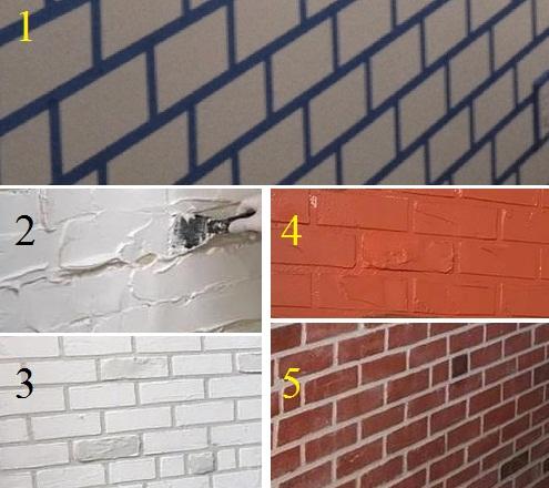 5 Langkah Cara Membuat Motif Batu Bata Di Tembok Dengan Cat Biasa