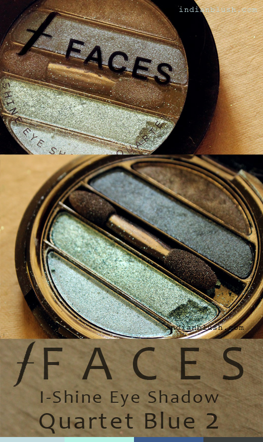 Faces I-Shine Eye Shadow Quartet Blue 2 Review