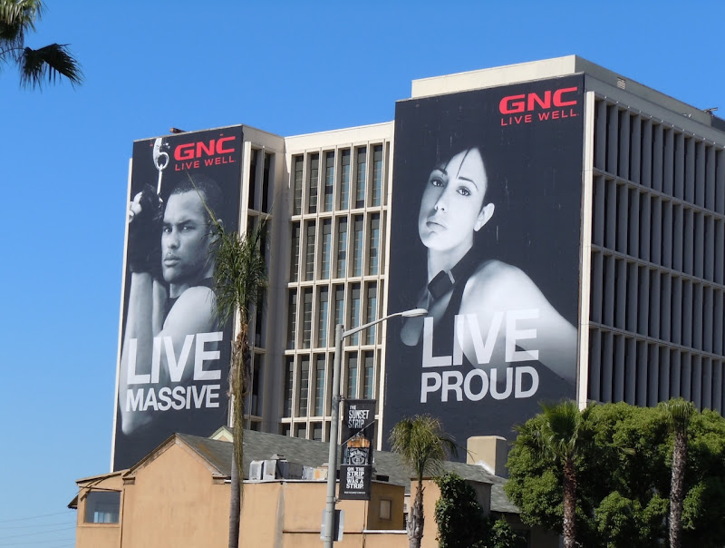 Live Massive Live Proud GNC billboard