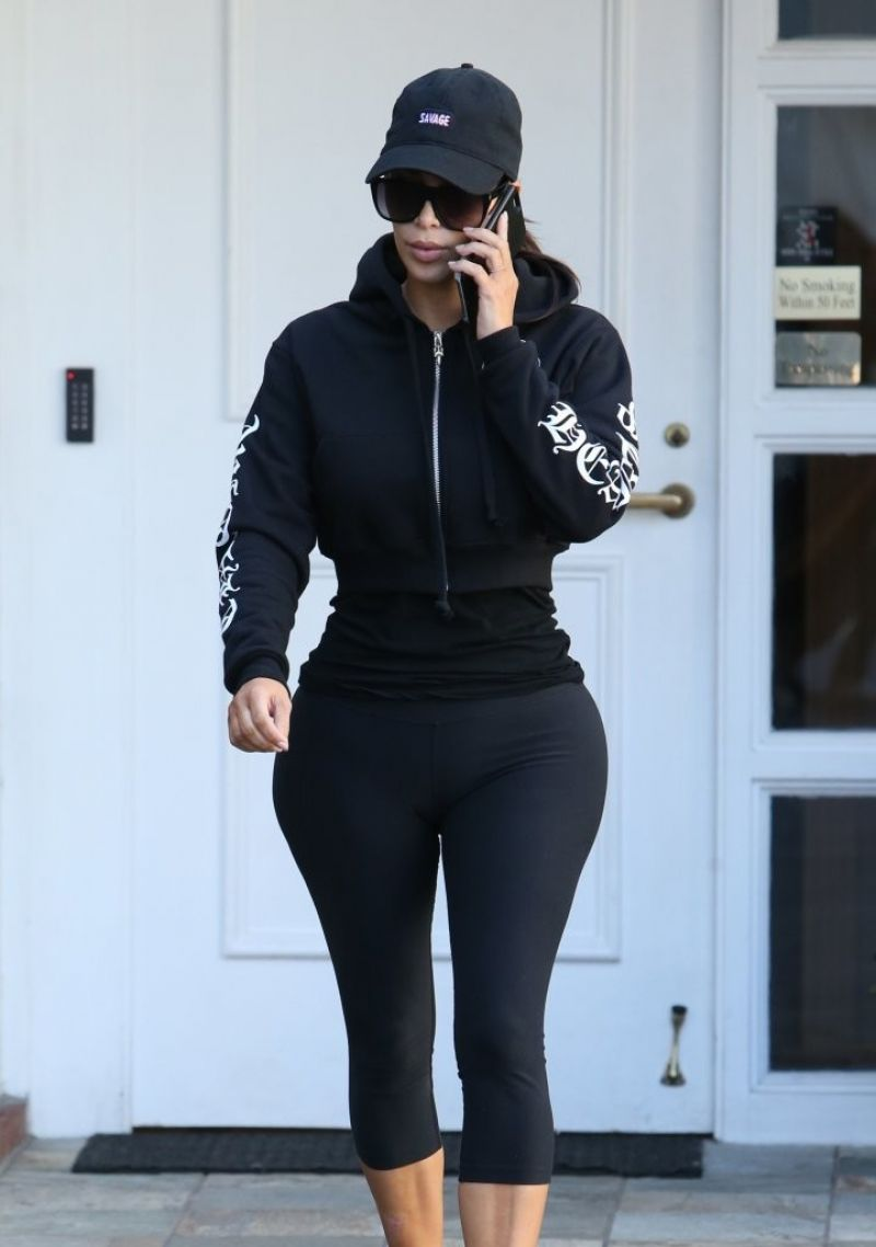 Kim Kardashian at Epione in Beverly Hills