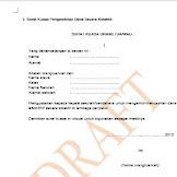 Contoh Surat Kuasa Pengambilan Dana BSM/KIP Secara Kolektif