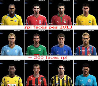 Facepack Russian Premier League Pes 2013