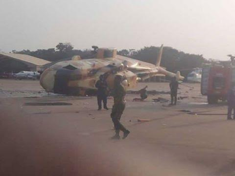 Presidential jet worth $21m handed over to Air Force crashes in Makurdi, Benue state