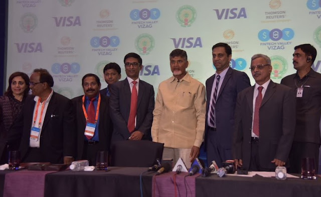 Hon'ble CM of Andhrapradesh, Chandrababu Naidu with Mr T.R. Ramchandran, Group country manager India & South Asia, Visa,