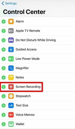 Enable Screen Recording in iOS 11 Beta 1