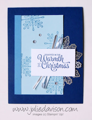 Stampin' Up! Snowflake Sentiments Christmas Card ~ 2017 Holiday Catalog ~ www.juliedavison.com