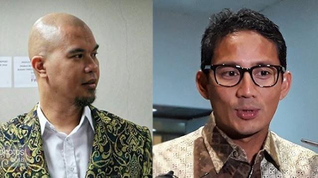 Dirangkul dan Dicium Sandiaga di Panggung, Ahmad Dhani Bilang Itu Kecupan Mesra
