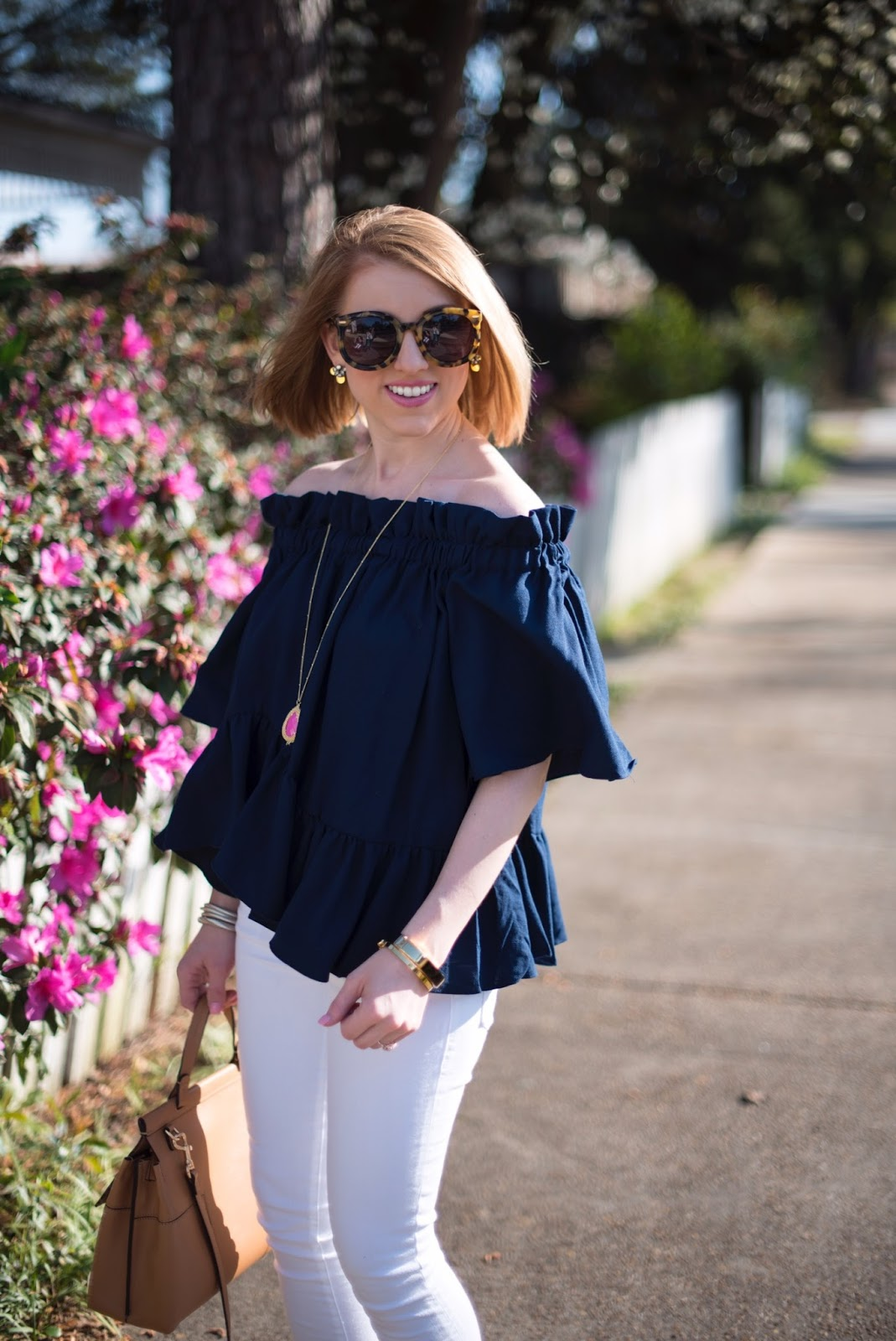 Ruffle Hem Top - Click through to see more on Something Delightful Blog!