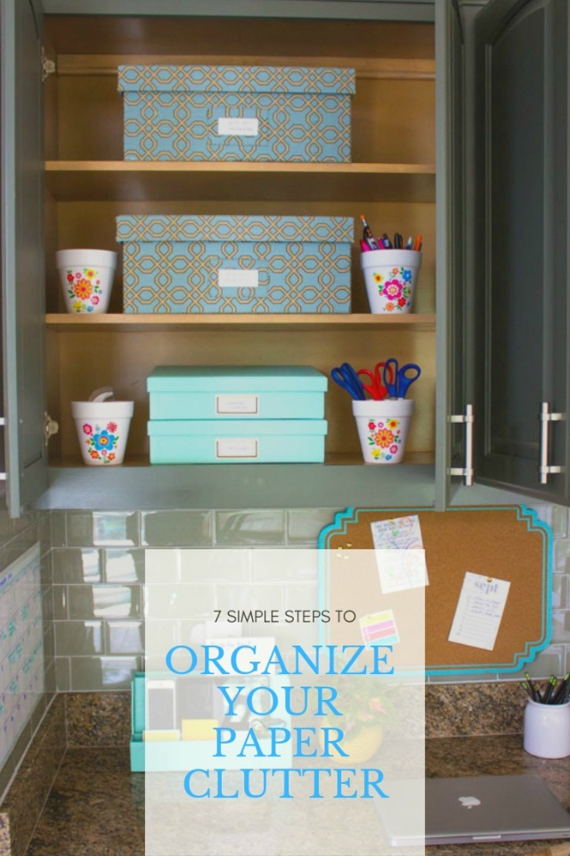 Simple tips for organizing and streamlining your paper clutter! #organizingtips #mariekondo #organizing
